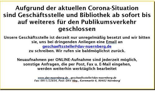 Artikelbild zu Artikel 'Alle Sektionsveranstaltungen und Kurse abgesagt, Geschäftsstelle & Hütten temporär geschlossen'